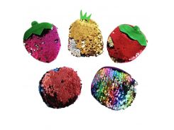 M010 Creative Coin Purse Pineapple Strawberry Round Sequins Two Different Color Zero Bag Girl Women Student Gift Wholesale