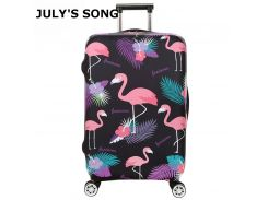 Flamingo Series Luggage Protective Cover Women's Elastic Suitcase Travel Case Famale Trolley Dust Rain Bags Accessories