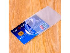 20PCS Waterproof PVC ID Card Holder Plastic Card Cover Transparent Protection Credit Card Bank Cardholder ID Card Cover