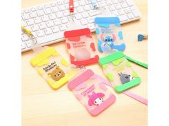 Waterproof Card Holder Silicone Bus Bank ID Card Case Cute Feeding Bottle Shaped Cartoon Card Cover With Rope