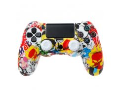 Multi-color Silicone Case Cover For Play Station Dualshock 4 PS4 DS4 Pro Slim Controller Skin + 2 Thumb Stick Grips Caps
