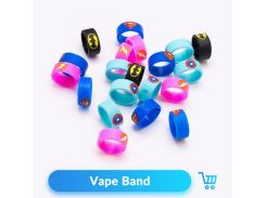 Volcanee 10pcs/lot 22mm Vape Band Silicon Decorative Ring fo TFV8 Baby RDTA Tank Vape Atomizer Box Mod E Cigarettes Accessories