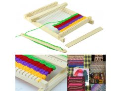 New Toy Christmas Gift Wood Knitting Loom Yarn Shuttle Comb DIY Handmade Craft Tool Educational Toy Kit BM