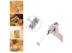 Electric Milk Frother Handheld For Coffee Milk Frother Machines With Stand Kitchen Drink Mixers Milk Foamer Handheld Egg Beater