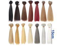 5cm 15cm 25cm black gold brown khaki white grey color short straight doll hair for Forehead bangs doll hairs