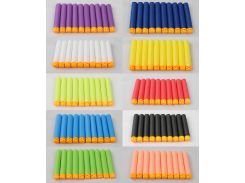 100 Pcs Hollow Soft Head 7.2cm Refill Darts for Nerf Series Blasters NEW STYLE Kid Toy Gun Clip EVA Bullets