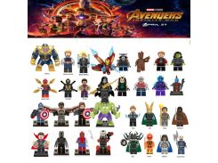 Diy For legoing Marveled Super Heroes Thanos Spider Man Iron Man Thor Loki Avengers 3 Infinity War Building Blocks Toys Figures