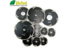 DIATOOL Hot pressed Diamond turbo Blade with Slant Triangle teeth Diamond cutting disc for Multi puprose Grinding wheel