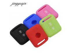 jingyuqin Remote Car Key Silicone Case For Qashqai Nissan Micra Navara Almera Note Fob Rubber Cover 2 Button