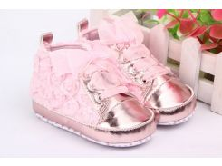 First Walkers Baby Kids Toddler Shoes Sapatos Baby Sapato Infantil Kids Rose Flower Soft Sole Girl Shoes