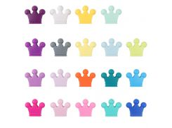 10pc/lot Baby Crown Baby Teether Beads Food Grade Silicone Pacifier Clips Bead Teething Toy Nurse Gift Accessories BPA FREE