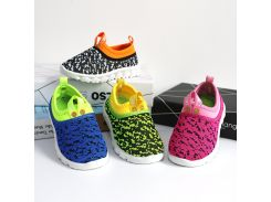2018 New Soft Kids Shoes Baby Boy Girl Shoes Candy Color Woven Fabric Air Mesh Children Casual Sneakers For Boys Girls