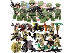 Oenux New World War 2 The Pacifice War Of Hacksaw Ridge US Army Military Building Block USA Soldier Figure DIY Brick Toy For Kid