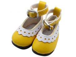 1 Pair 5cm PU Leather Cute Doll Shoes Adorable Party Ankle Strap PU Leather Shoes For  1/6  Doll Clothing Accessories