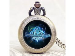 Hot Game Sword Art Online Extension Cool Bronze Pocket Watch With Chain Necklace Gift To Young People