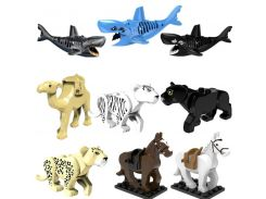 Compatible With Legoingly poppetjes Animal Blocks Accessory Bricks Figures Model Educational Diy Toys For Children Brithday gift