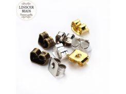 Fashion 200pcs/lot 4 Colours Earrings Women Metal Ear Plugs Blocked Earring Back Stud Earring Stopper DIY Jewelry Accessories F8