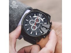 OCHSTIN Watches Men Fashion Sport Quartz Leather Clock Mens Wristwatches Top Band Luxury Big Dial Cool Watch Relogio Masculino