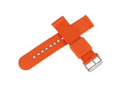 20mm 22mm 24mm Watch Strap Orange Nylon Watchband Sports Outdoor Military Bracelet Watch Band + 2 Spring Bars