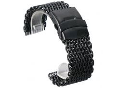 Black Golden Silver Colors 18mm/20mm/22mm/24mm Casual Steel Mesh Watch Strap Fold Over Clasp Luxury Man Watchband Replacement