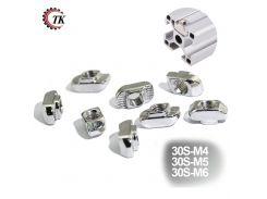 100pcs 50pcs 3030 Aluminum Profile with Slot Groove 8mm M4 M5 M6 Nickel Plated T Bolt Hammer Head Nut