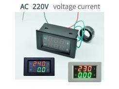 AC300V100A CT 50HZ 110V 220V 240V Digital Voltmeter Ammeter Dual LED Digital Amp Volt Meter Gauge Voltage Meters