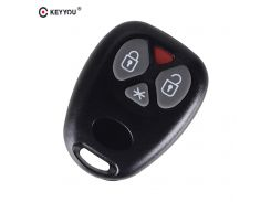 KEYYOU 4 Buttons New Replacement Remote Car Key Case for Brazil Control Old Positron Alarm Remote Key Shell