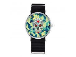 D-0005 BAOSAILI Flower Sugar Skull Creative Women Popular Watch Nylon Strap Casual New Style Watch Vector Element Design Relojes