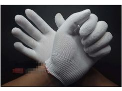 2pair White 13-pin thin nylon gloves core gray black electronics factory ladies gloves dust-free anti-static gloves