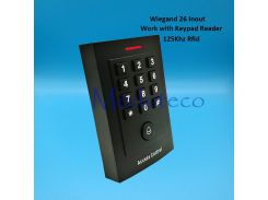 New 125khz rfid Card Access Control EM card Press keypad access controller wiegand 26 input for Keypad Reader Door Lock Reader