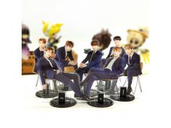 BTS Bangtan Boys formal wear sitting KPOP stars group acrylic stand figure model double-side plate holder cake topper idol