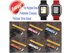 22mm Quick Release Watch bands Leather Straps Band Interchangeable Smart Fitness Watch Band With Stainless Frame For Pebble time