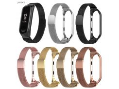 2018 New Smart Wristband Milanese Magnetic Loop Stainless Steel Watch Band Strap For Xiaomi Mi Band 3