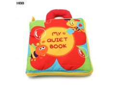 12 pages Soft Cloth Baby Boys Girls Books Rustle Sound Infant Educational Stroller Rattle Toys