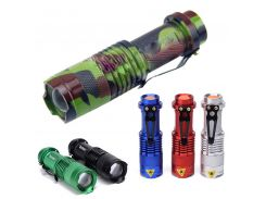 Mini Pocket Waterproof Led Flashlight 2000LM CREE Q5 Zoomable LED Torch Belt Clip Flash Light Outdoor Hiking Camping AA/14500