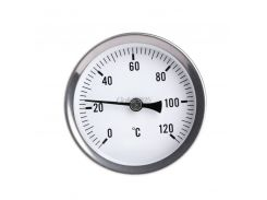 63mm Dial Horizontal Thermometer Aluminum Temperature Gauge Meter Liquid Water G07 Drop ship