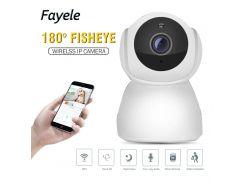 Security HD 1080P WI-FI Wireless MINI IP Camera 2mp 180 Fisheye Camera 720P Baby Monitor 10m IR Night Vision 2 way Audio SD Slot