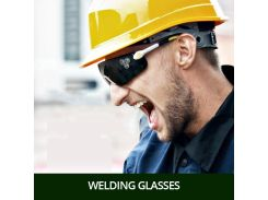 Safety Glasses For Work Welding Goggles Eyes Protection PC Lens Riding Dust-proof Anti-UV Workplace Safety Supplies Anti-shock