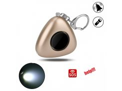130dB SOS Alarm Keychain With LED Flashlight Mini Self Defense Emergency Safety Alarm For Women Kids Elderly Adventurer
