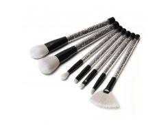 New 7pcs Black Diamond Unicorn Crystal Makeup Brushes Set Foundation Blending Powder Eye Face Brush OPP bag Package maquillaje