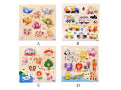 Baby Toys Baby Wooden Animal Jigsaw Toys Kids Early Education Learning Training Developmental Puzzles Toys wholesale JY25#F