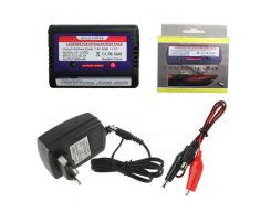 7.4-11.1v Lithium Battery 2-3s Cell LiPo Balance Charger Set With 12V 2A Switch Power Adapter EU/US Plug freeship