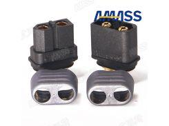 10pcs Amass Black XT60 Connector Sheathed Upgraded Version XT60 Plug+Protector Cover XT60H M/F T-plug Interface Connectors