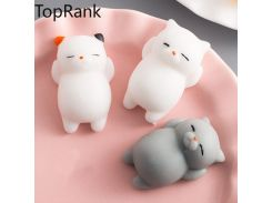 TopRank 40+ Style Choice Wipes Antistress Boot Ball Sticky Eliminate Stress Squeeze Decompression Squishy Soft Cute Cat Fun Toys