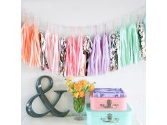 Children's party birth decoration multicolored balloons tassel silk rain holiday decoration party decoration toy supplies