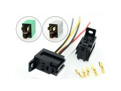 1PC THREE TYPES 12V Car OMRON Power Relay Socket for KIA( with terminal, with 4pins wires, with 5pins wires),relay optional