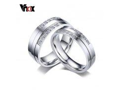 Vnox Wedding Rings for Women Men Fashion Silver Color CZ Stone Alliance Romantic Forever Love Promise Finger Ring Bijoux