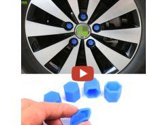 FLYJ 20 PCS Car Wheel Hub Screw Cover luminous Nut Caps Bolt Rims Siliconel glow rubber cap For Lada Kia Honda Nissan Hyundai