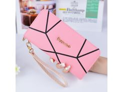 New Fashion Design Zipper Around Women Wallet And Purse Cute PU Leather Handy Bag Organizer Girls With Plastic Card Coin Case