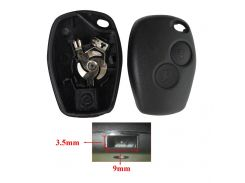 Without Blade 2 Buttons Car Key Shell Remote Fob Cover Case For Renault Dacia Modus Clio 3 Twingo Kangoo 2 #281139